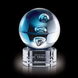 Blue Zoltan Artglass Customer Service Award