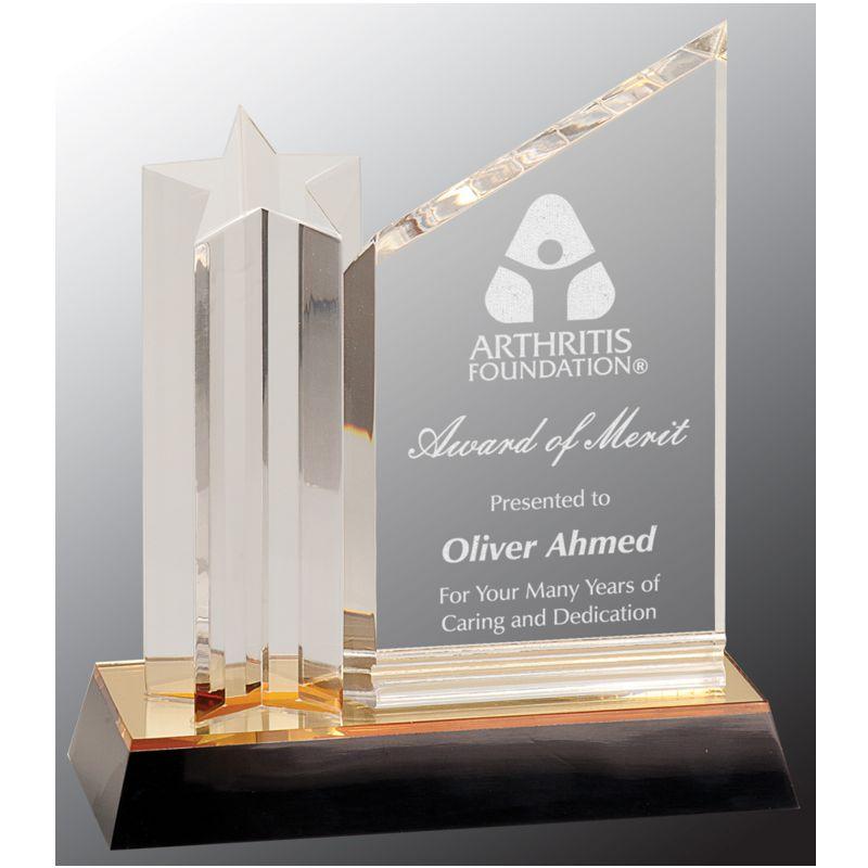 Garfield Golden Star Acrylic Award
