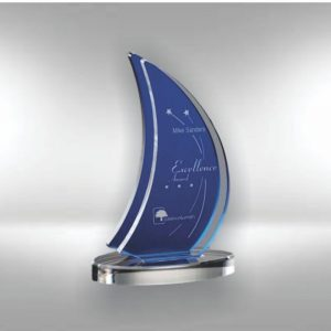 Blue Acrylic Sails in the Sunset Director's Award