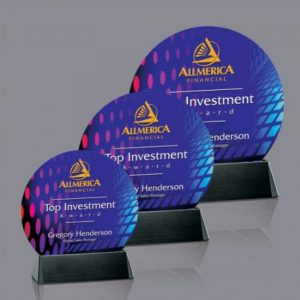 Sierra Round Full Color VividPrint Round Crystal Award