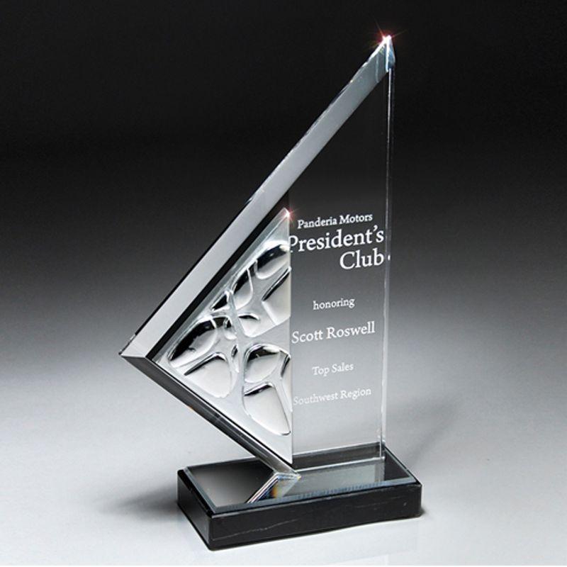 Gemini Chrome Peak Acrylic Award