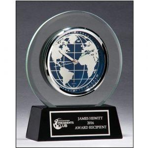 World Dial Glass Clock