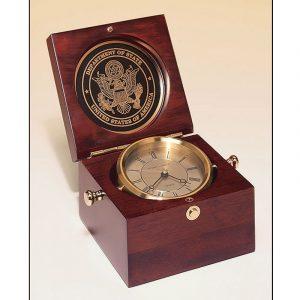 Mahogany Finish Captain's Clock
