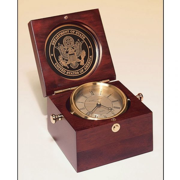 Mahogany Finish Captain's Clock