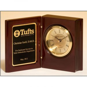 High Gloss Rosewood Piano Finish Book Clock