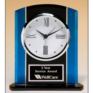 Blue Glass Clock