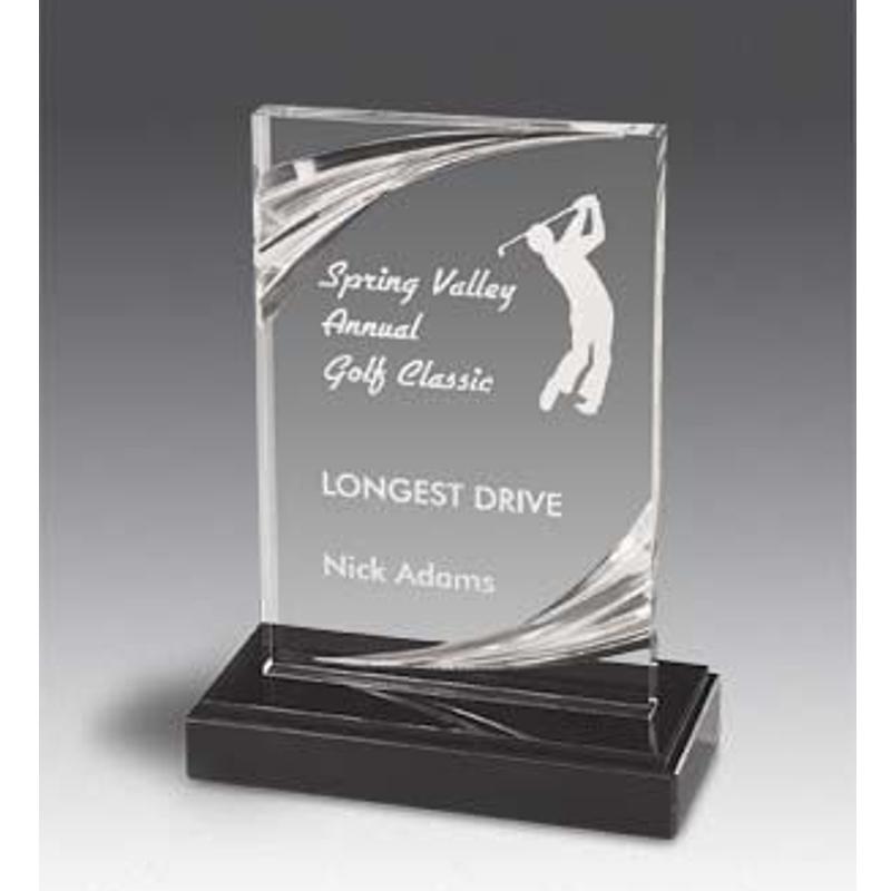Arlington Diamond Carved Acrylic Award