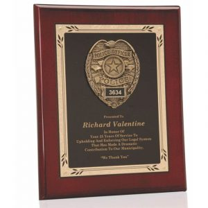 Police Badge Casting Plaque Award