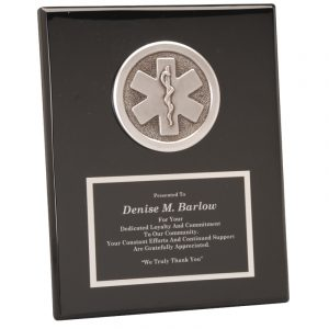 EMT Silver Casting Black Piano Finish Plaque