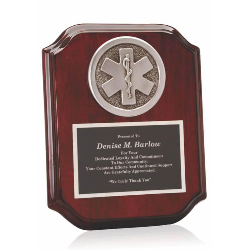 EMT Casting Piano Finish Plaque Award