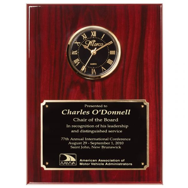 Rosewood Piano Finish Clock Plaque