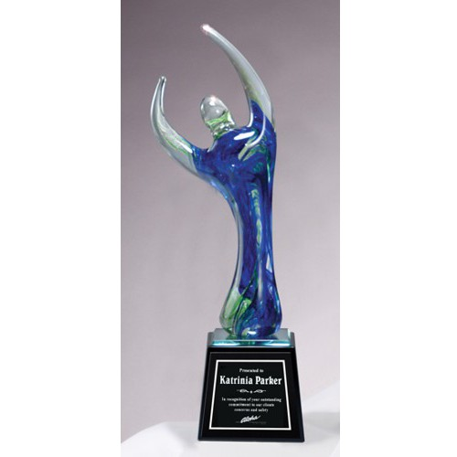 Blue Celebrate Art Glass Award