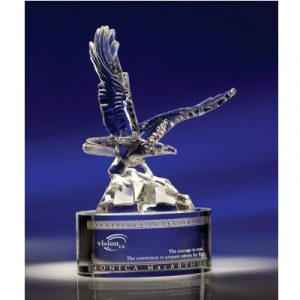 Stately Soaring Crystal Eagle Award