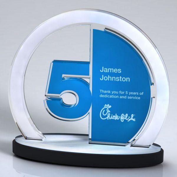 Years Service Acrylic Achievement Award