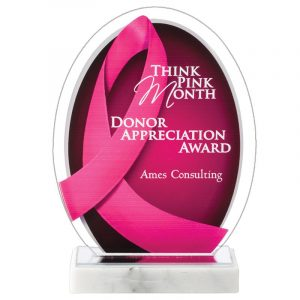 Breast Cancer Awareness Acrylic Award