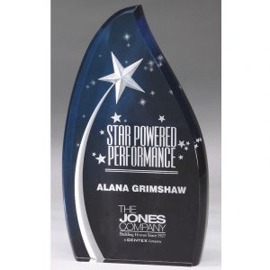 Shooting Star Blue Sky Acrylic Award