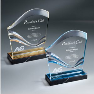 Brilliant Carved Wave Acrylic Award