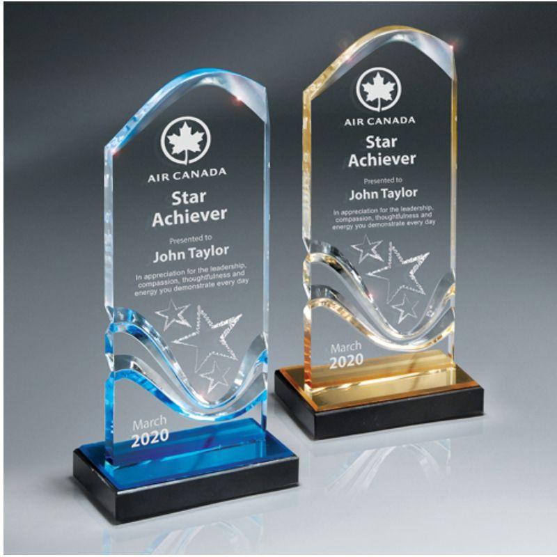 Wave Tower Acrylic Award Awardmakersawardmakers