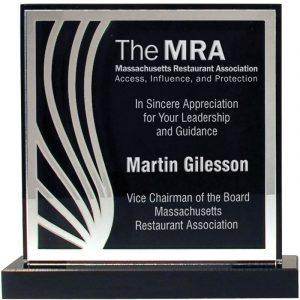 Mirror Deco Silhouette Acrylic Award