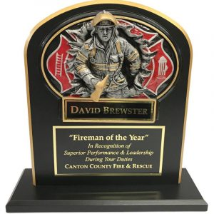 Firefighter Burst Thru Trophy