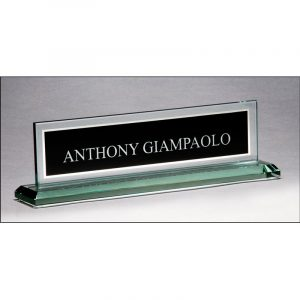 Glass Mirror Border Name Plate