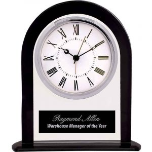 Glass Arch Clock Employee Appreciation Award