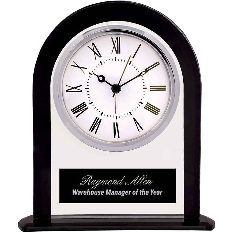 Glass Arch Clock Employee Appreciation Award