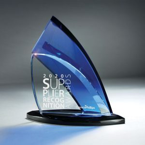 Sloop John B Blue Glass Sailing Award