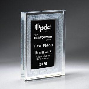 Framed 3D Crystal Tablet Award