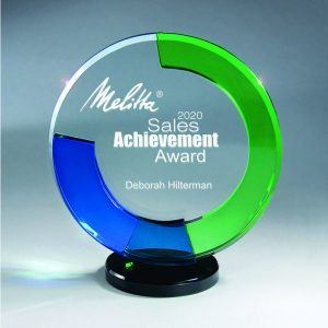 Three Tier Glass Circle of Excellence Award