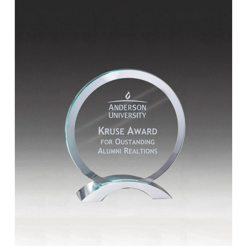 Winners Circle Beveled Clear Glass Award