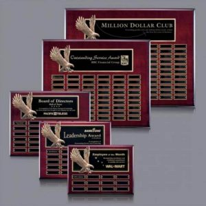 Bronze Soaring Eagle Rosewood Perpetual Award Plaque