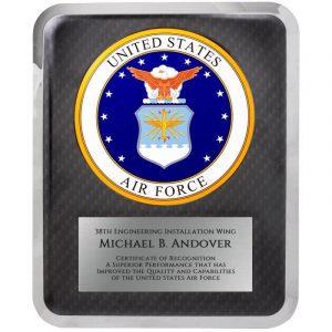 U.S. Air Force Hero Series Award Plaque