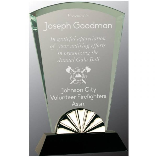 Fan Shaped Glass Award