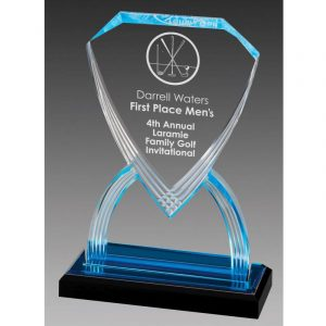 Blue Shield Acrylic Award