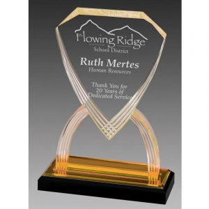 Gold Reflections Shield Acrylic Award