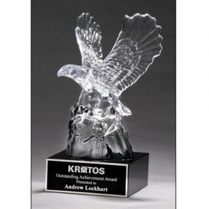 Carved Crystal American Eagle Award