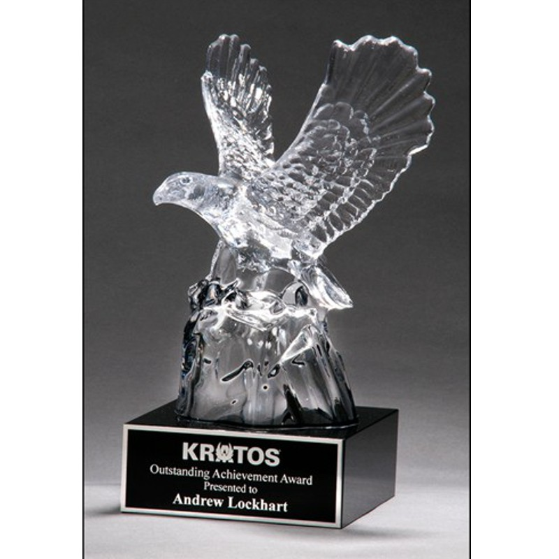 American Eagle Carved Crystal Recognition Award