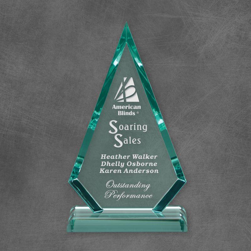 Arrowhead Jade Acrylic Award