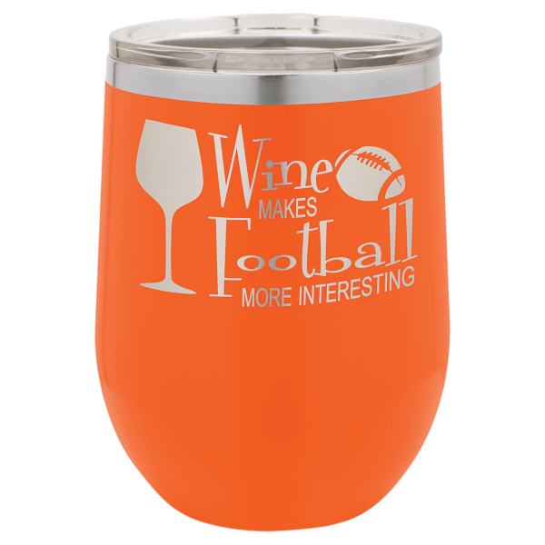 Stemless Wine Tumblers 12 Ounce Laser Engraved