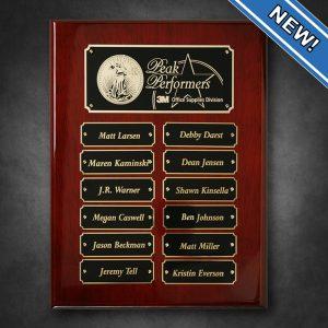 Employee Monthly Achievement Award Winner Plaque