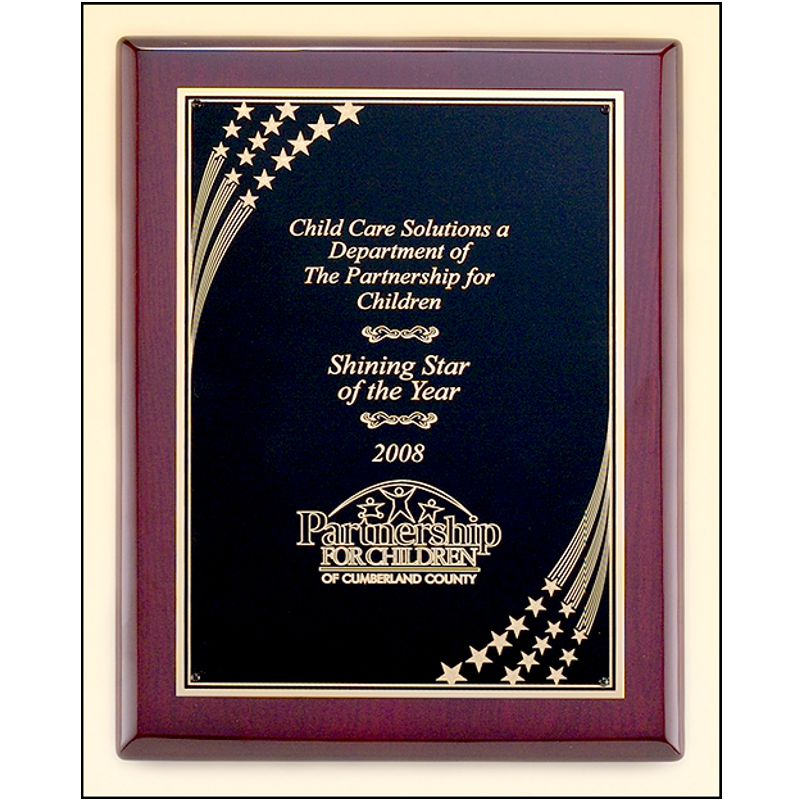 Super Stars Rosewood Piano Finish Plaque
