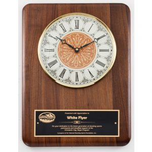 Genuine Walnut Vintage Face Clock Plaque