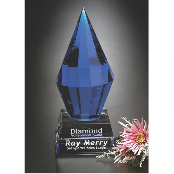 Azure Diamond Optical Crystal Award