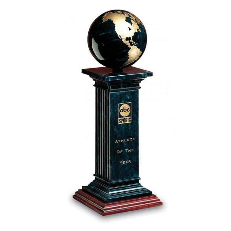 Renaissance Black Marble Globe Award