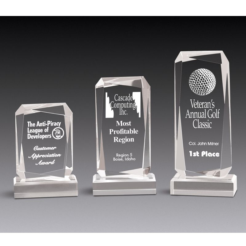 Faceted Rectangle Clear Acrylic Award