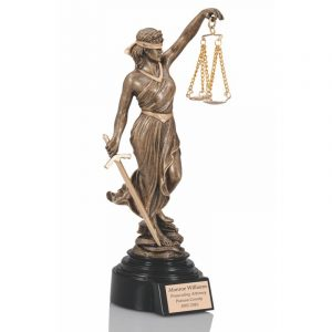 Antique Gold Lady Justice Statue Award