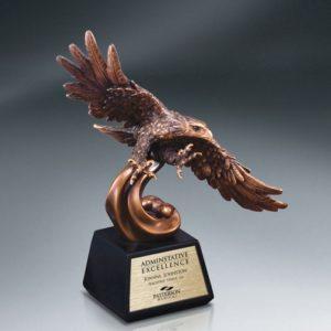 Elegant Eagle Resin Bronze Recognition Award