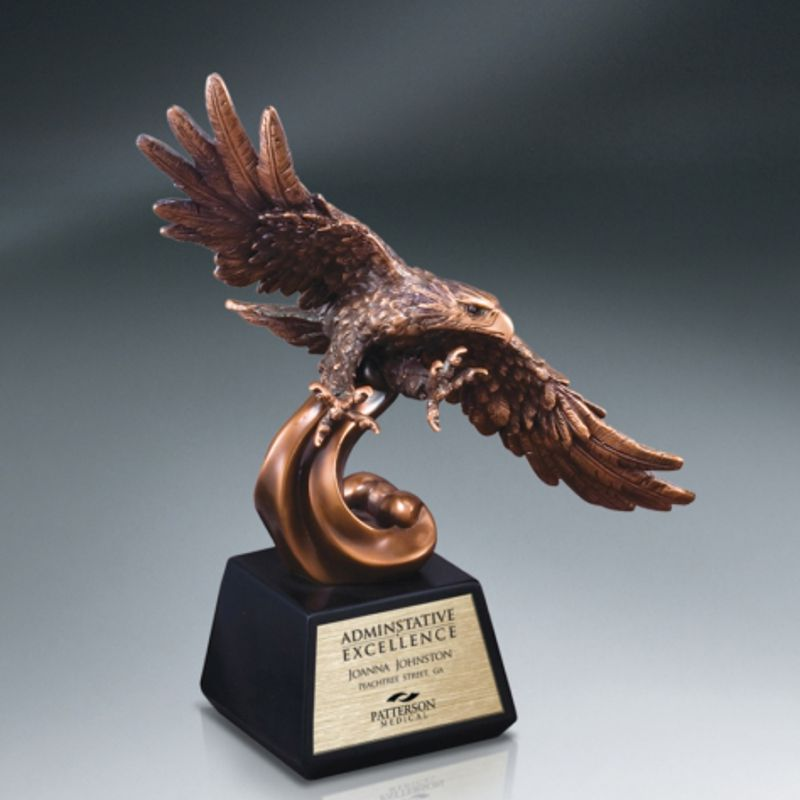 Elegant Eagle Resin Bronze Recognition Award