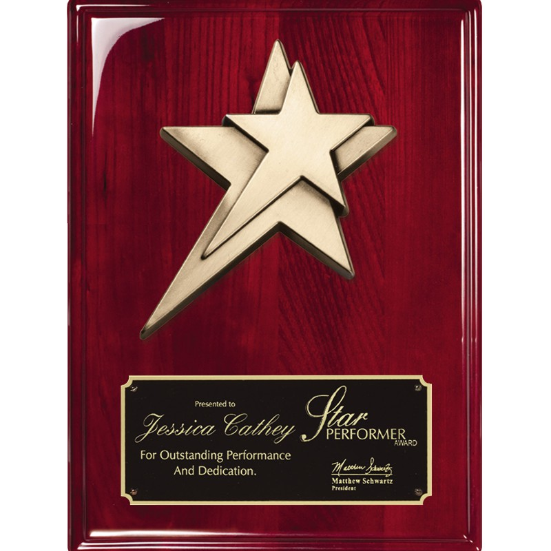 Gold Star Recognition Award Plaque